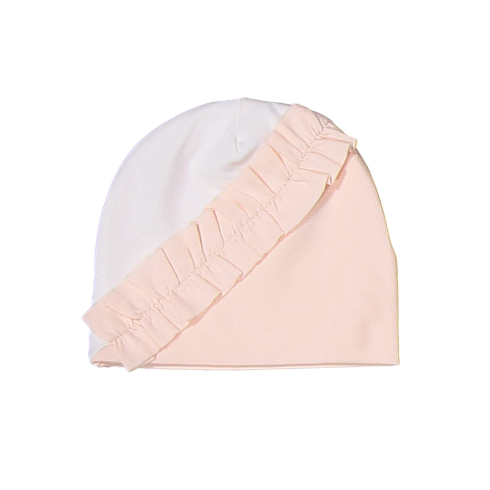 Diagonal Ruffle Beanie (no pom) Maniere Accessories Peach XS