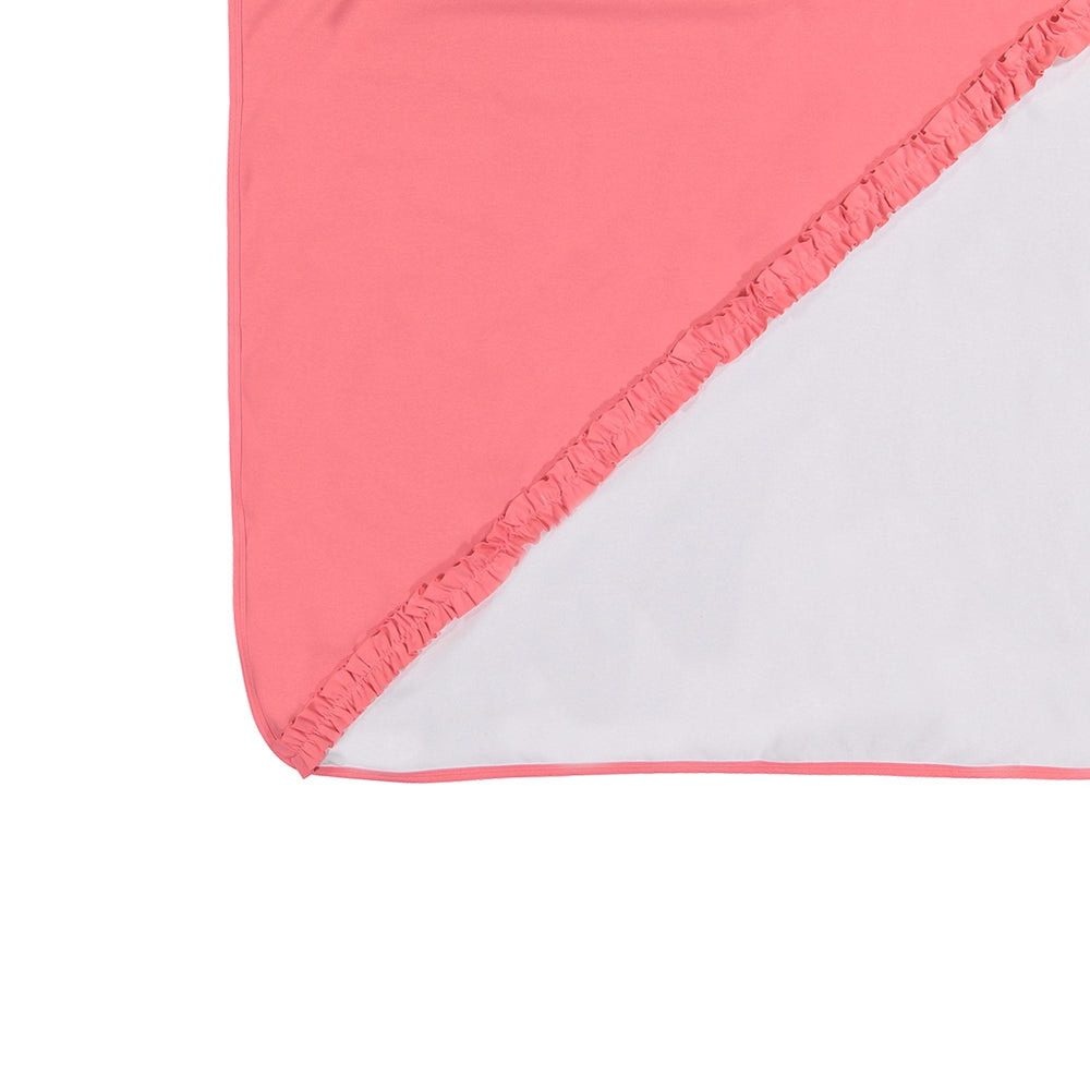 Diagonal Ruffle Blanket Maniere Accessories Coral