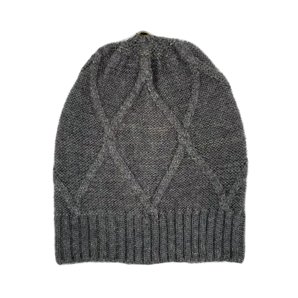 Load image into Gallery viewer, Diamond Lurex Knit Hat Winter Hat Manière