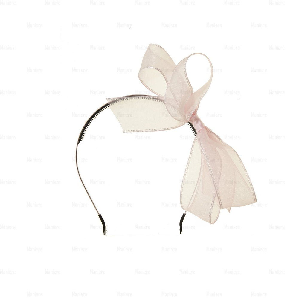 Elegant-Ribbon-Band Headband Manière Light Pink