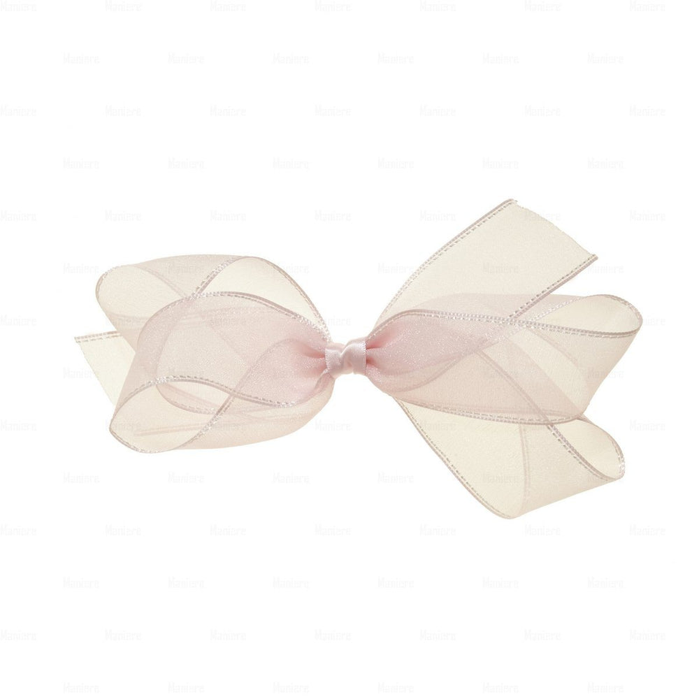 Elegant-Ribbon-Clip Hair Clip Manière Light Pink