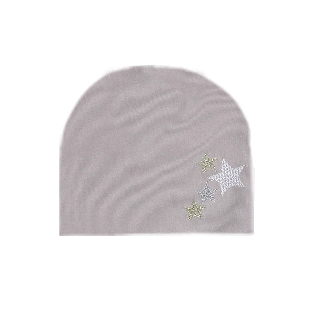 Embroidered Star Beanie (no pom) Maniere Accessories Grey XS