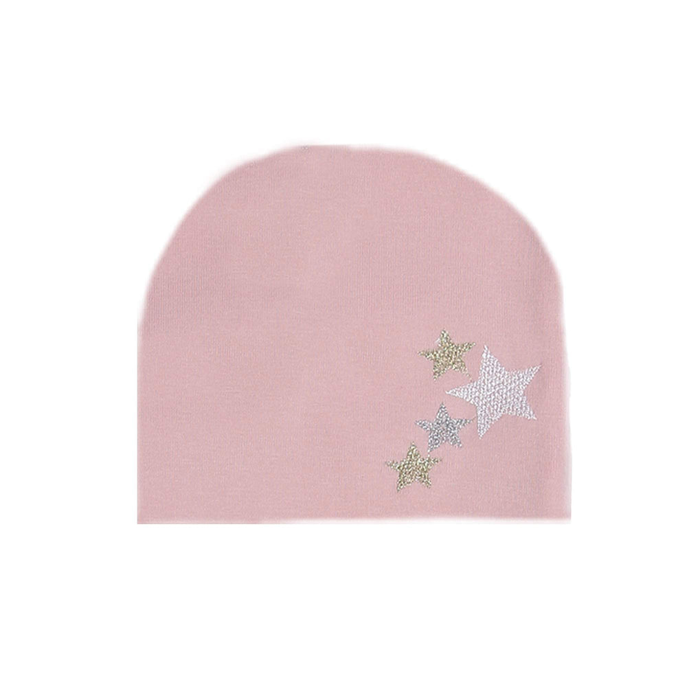 Embroidered Star Beanie (no pom) Maniere Accessories Mauve XS