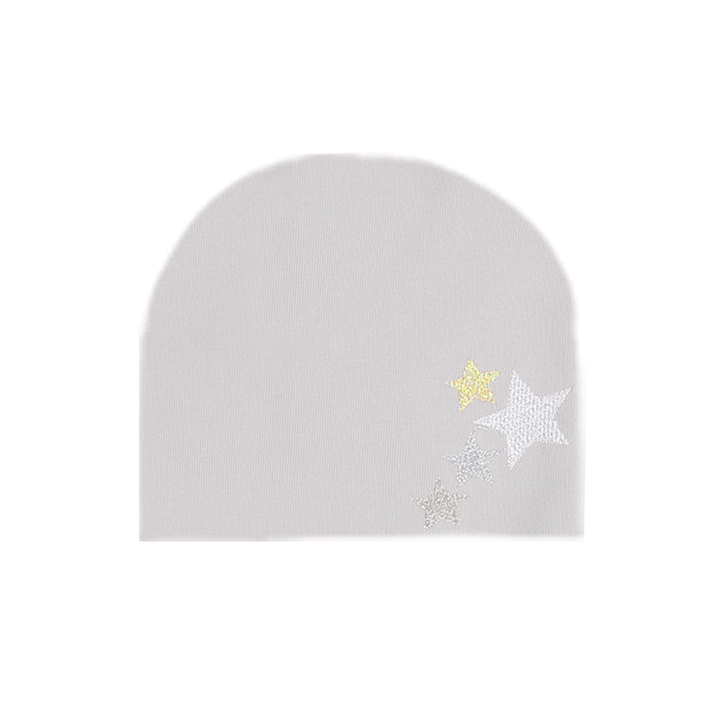 Embroidered Star Beanie (no pom) Maniere Accessories White XS