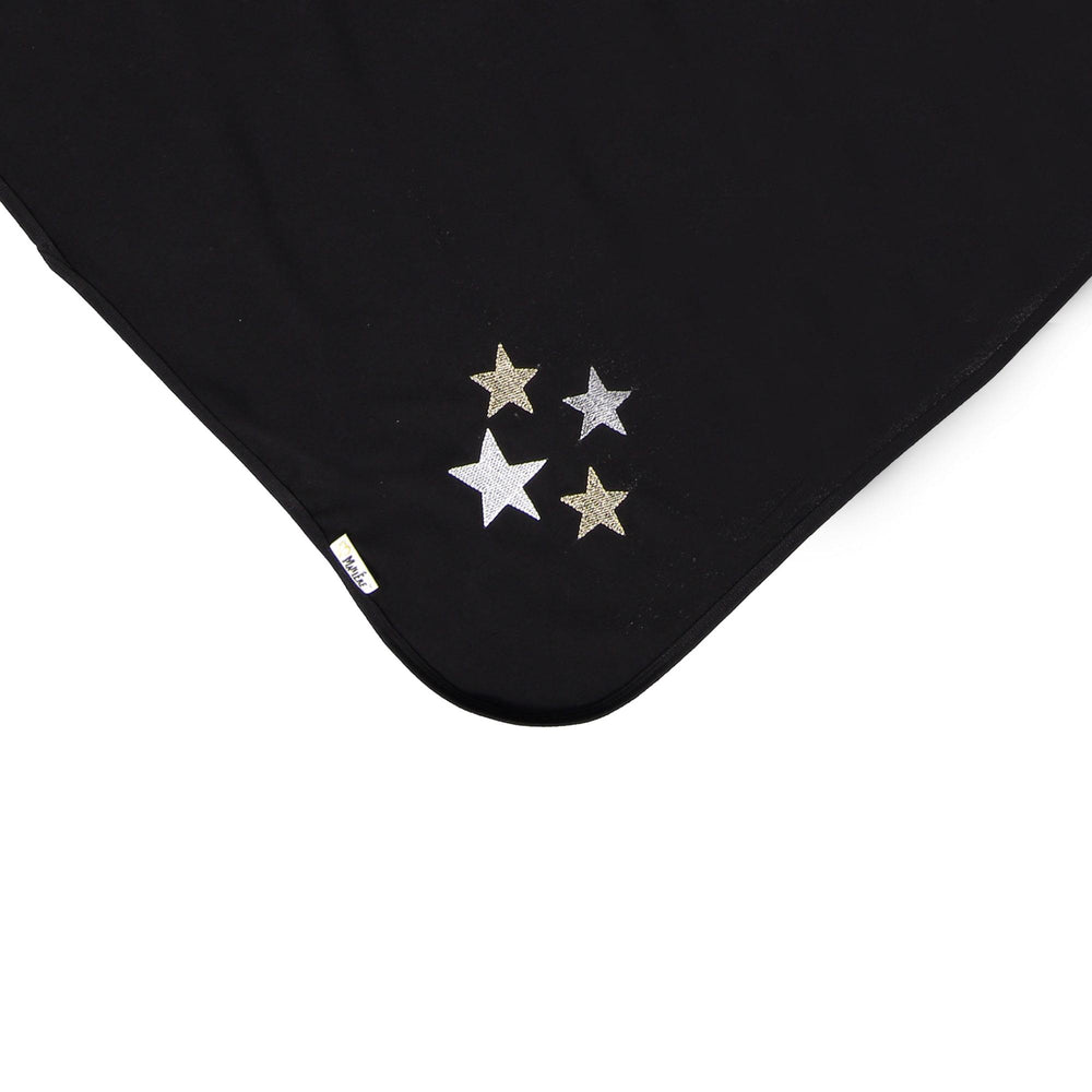 Load image into Gallery viewer, Embroidered Star Blanket Maniere Accessories Black