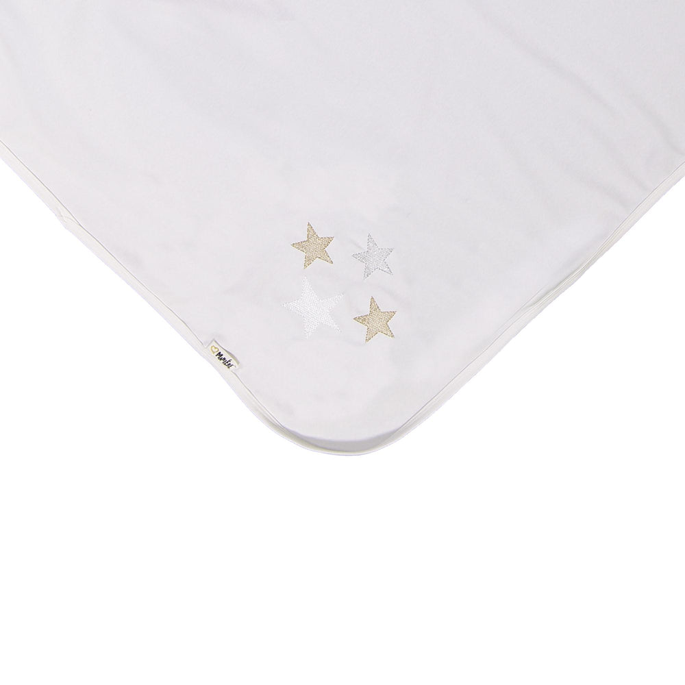Load image into Gallery viewer, Embroidered Star Blanket Maniere Accessories White