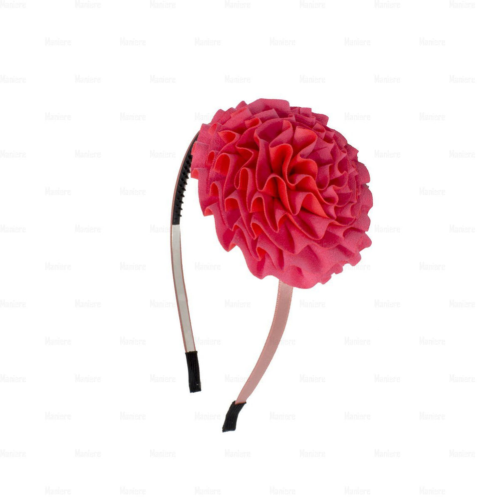Flower-Puff-Band Headband Manière Coral