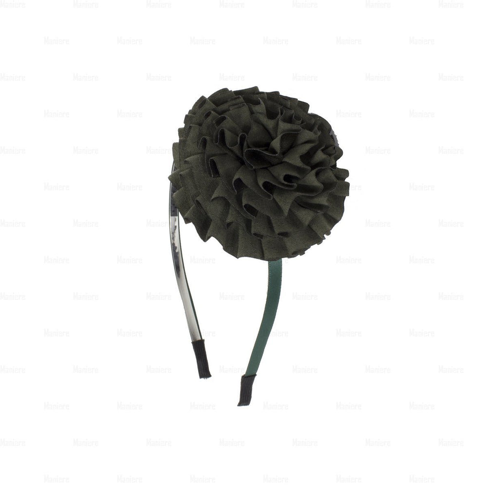 Flower-Puff-Band Headband Manière Green