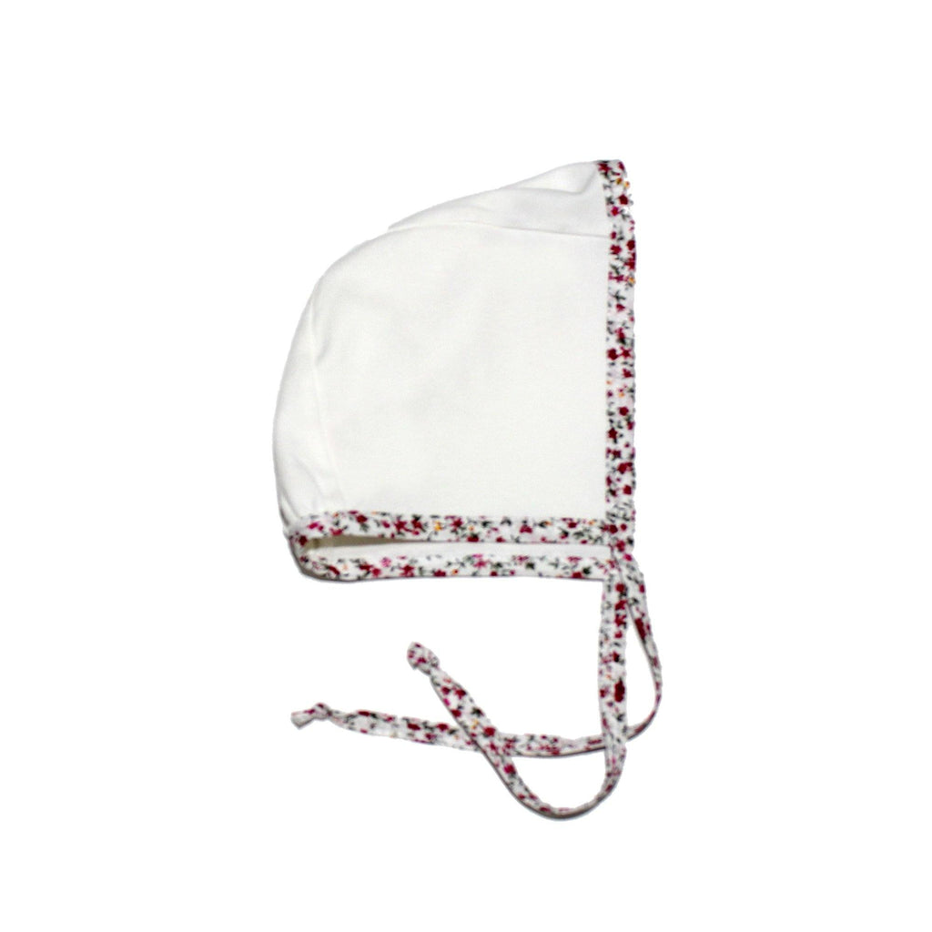 Floral Trim Bonnet