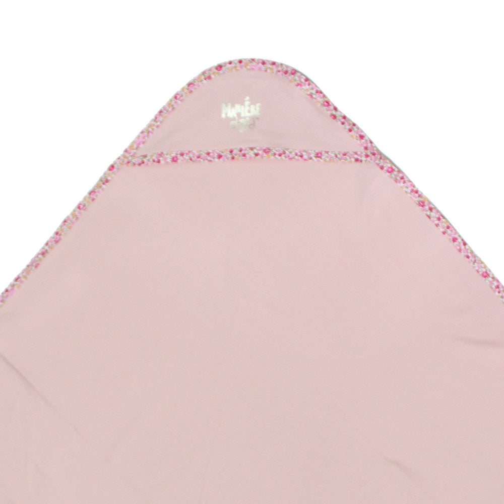 Load image into Gallery viewer, Floral Trim Blanket Baby Blanket Maniere Accessories Soft Pink