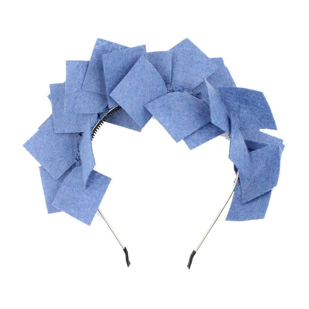 Felt Square Headband Headband Manière Denim Blue