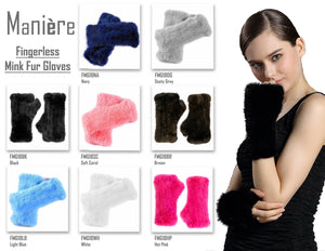 Fingerless Mink Gloves Maniere Accessories