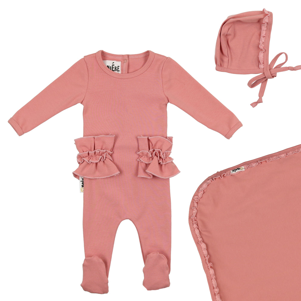 Frilled Waist Footie Set