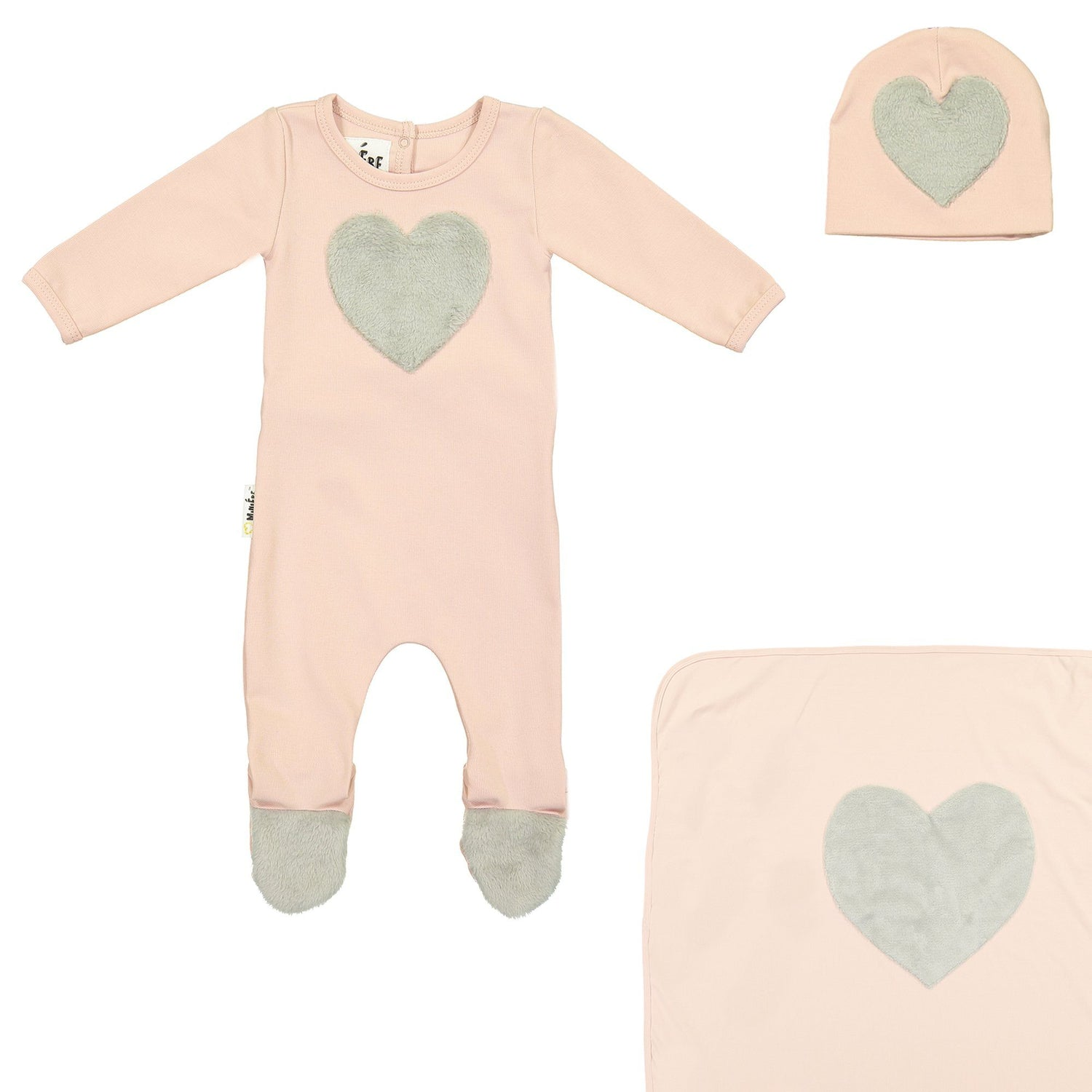 Fur Patch Set Maniere Accessories 3 Months Soft Pink