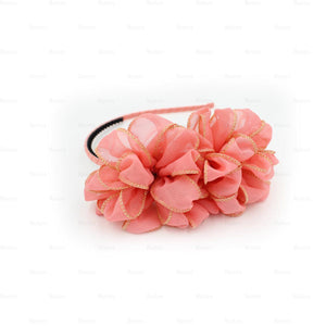 Load image into Gallery viewer, Gold-Edge-Flower-Headband Headband Manière Coral