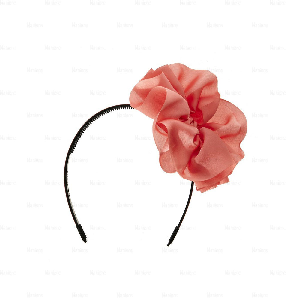 Hanging-Bow-Band Headband Manière Coral