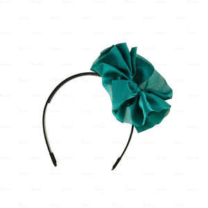 Hanging-Bow-Band Headband Manière Green