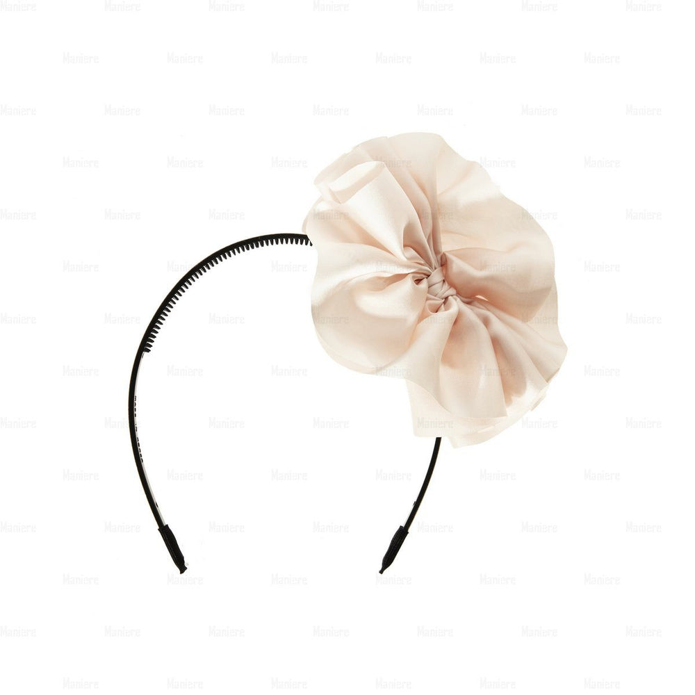 Hanging-Bow-Band Headband Manière Soft Pink