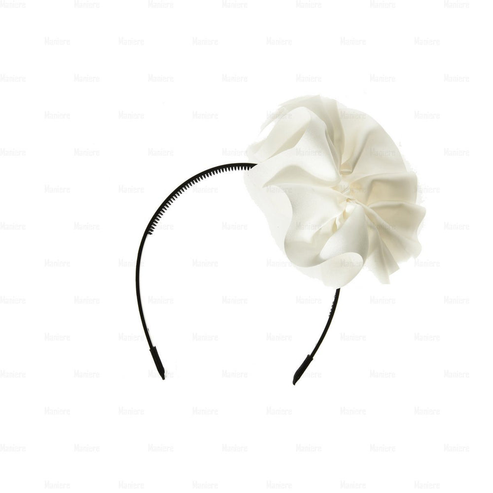 Load image into Gallery viewer, Hanging-Bow-Band Headband Manière White