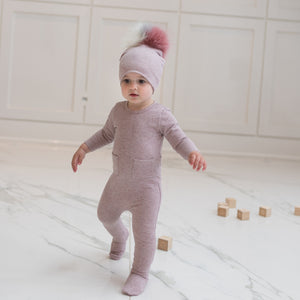 Sparkle French Terry Footie Set