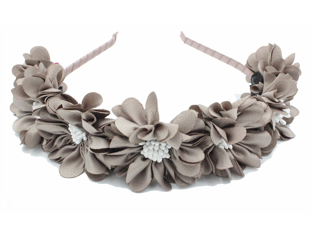 Load image into Gallery viewer, Jasmin-Flower-Band Headband Manière Grey