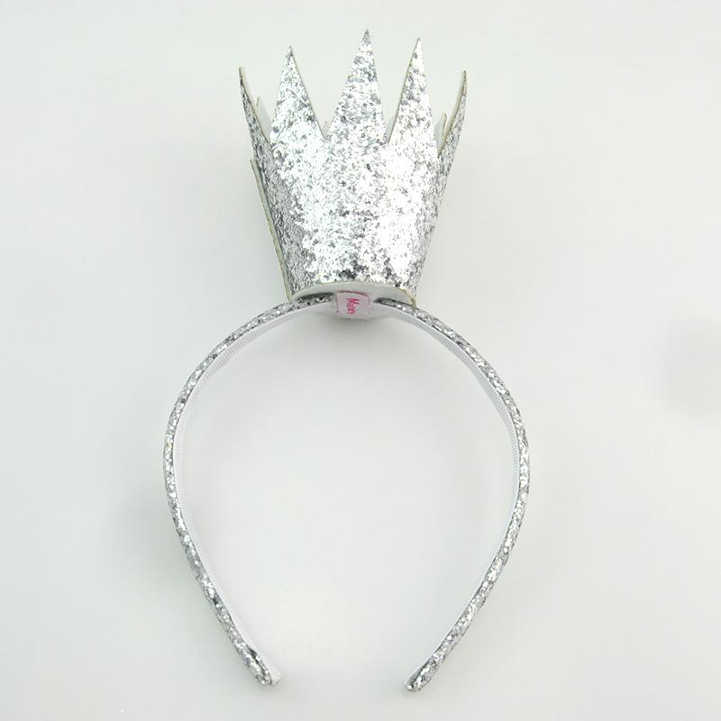 Load image into Gallery viewer, King Crown Headband Headband Manière Silver