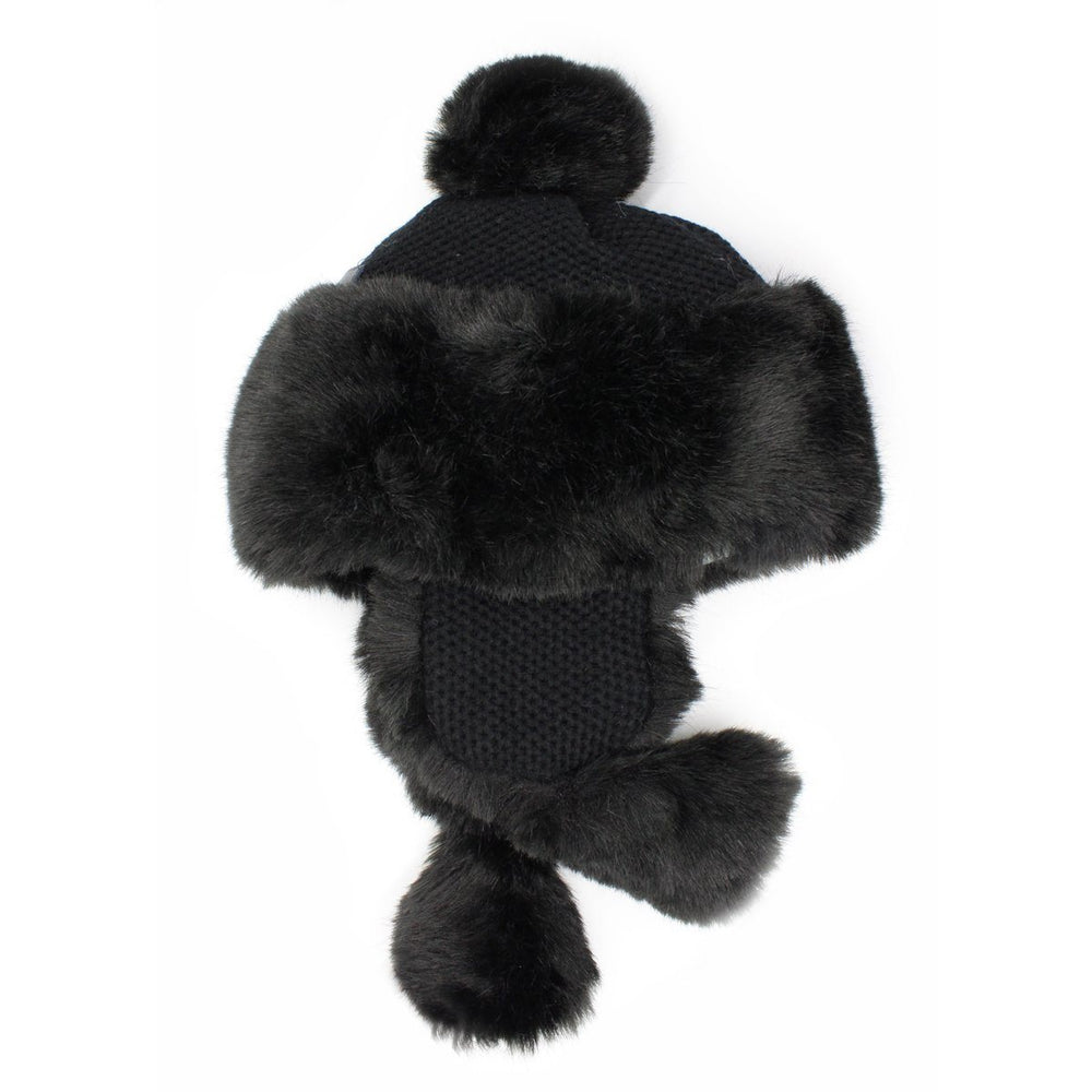 Faux-Fur-Ushanka Winter Hat Manière Black