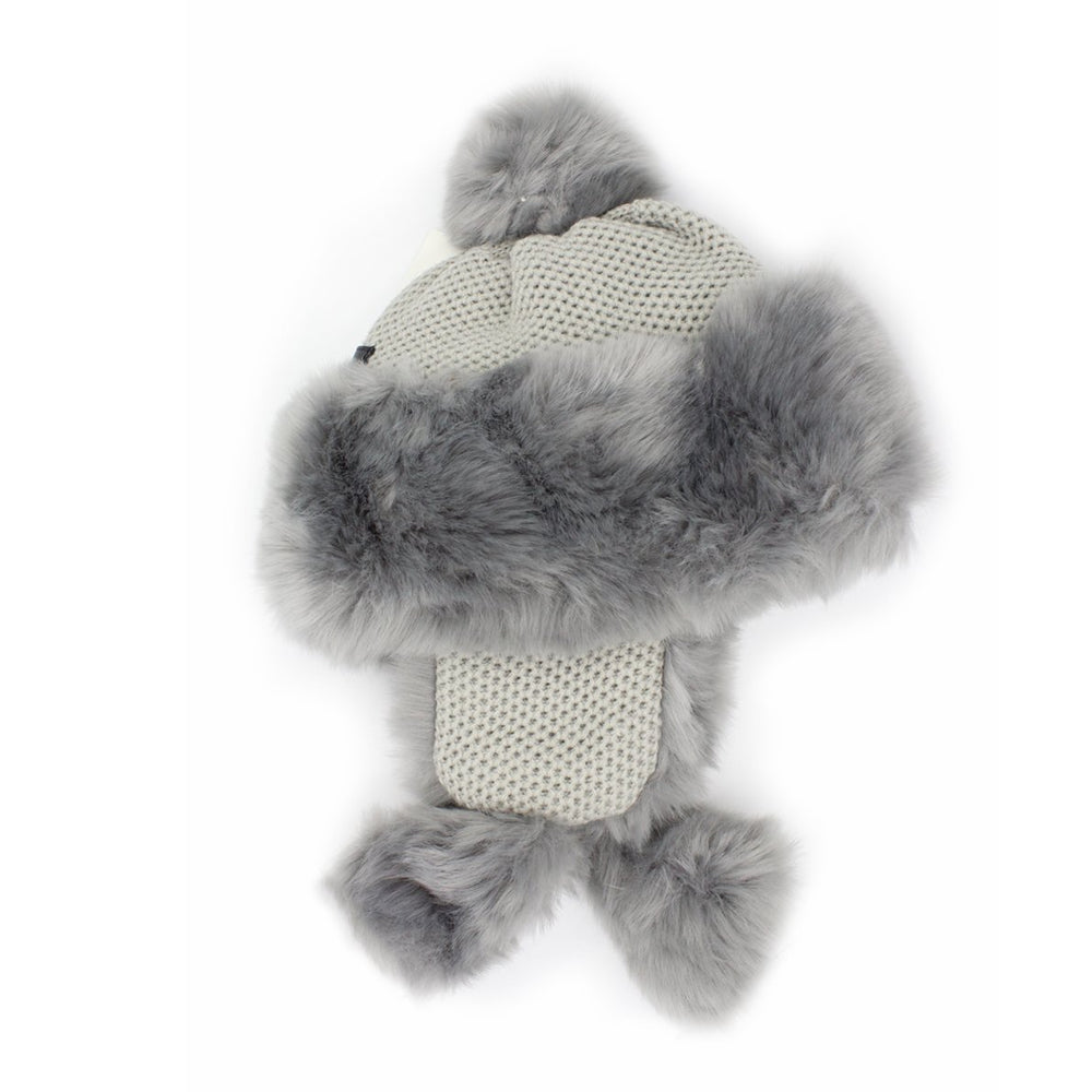 Faux-Fur-Ushanka Winter Hat Manière Grey
