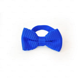 Boys-Knitted-Bow-Tie Boys Ties Manière Blue