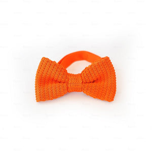 Boys-Knitted-Bow-Tie Boys Ties Manière Orange