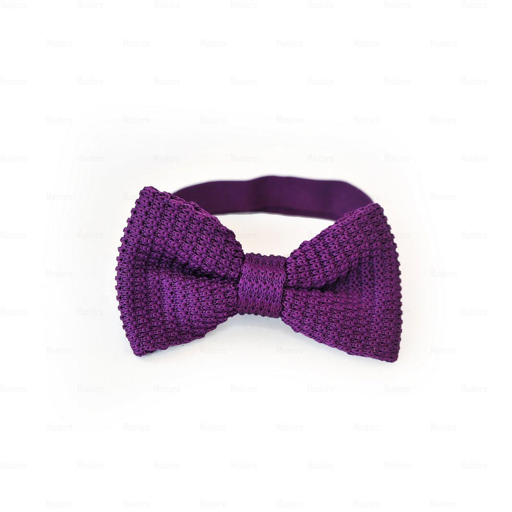 Boys-Knitted-Bow-Tie Boys Ties Manière Purple
