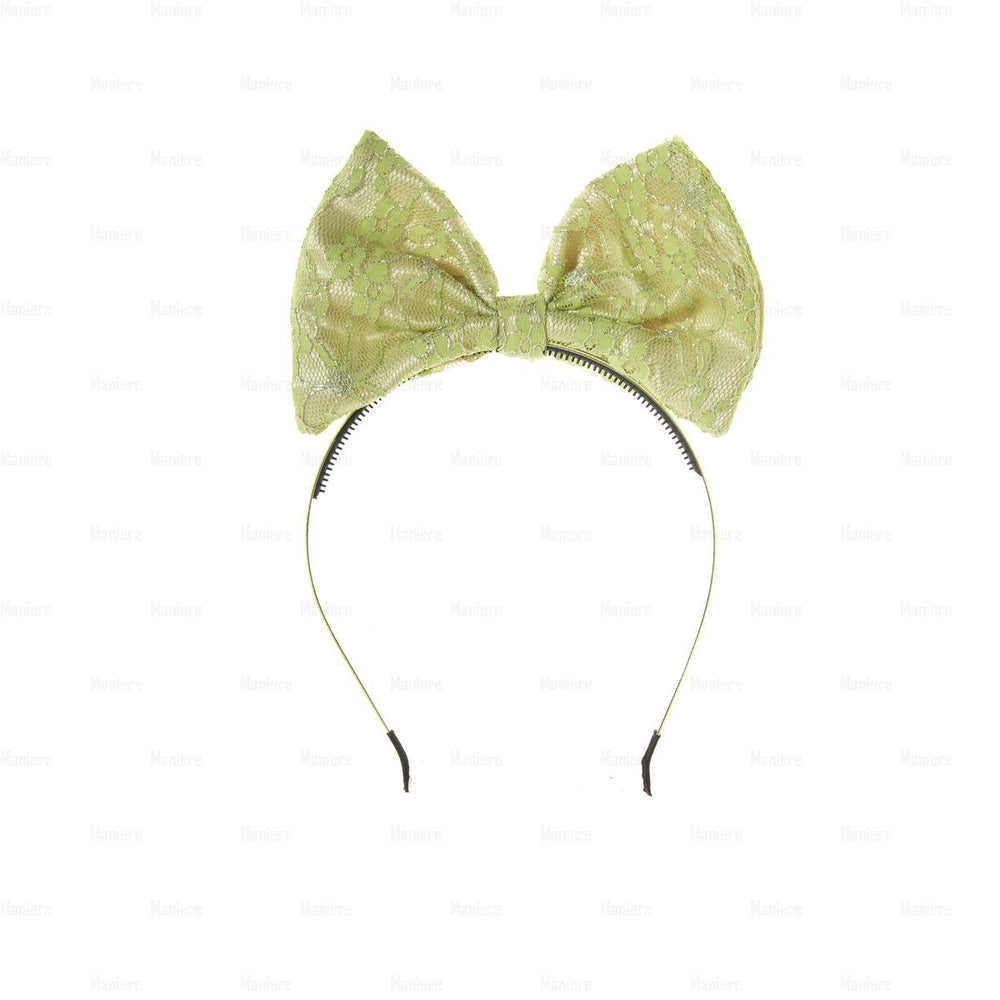 Lace-Pop-Up-Bow-Headband Headband Manière Pale Green