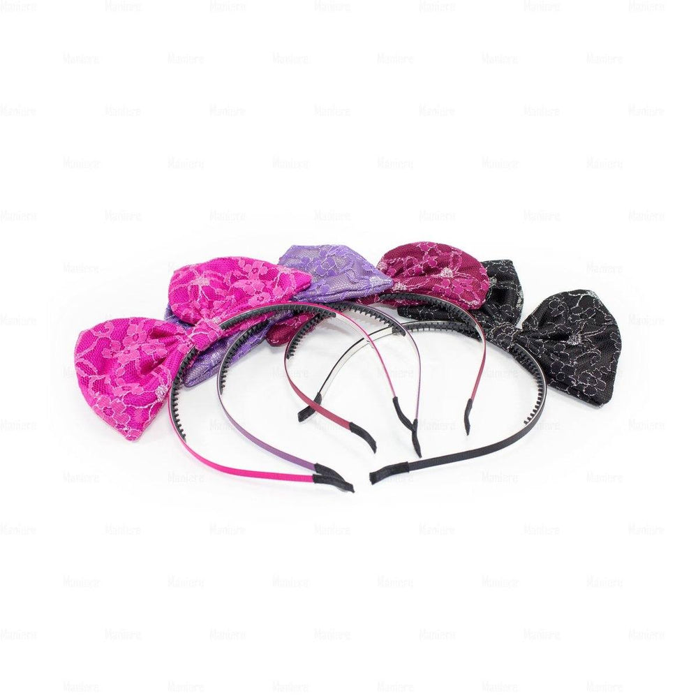 Load image into Gallery viewer, Lace-Pop-Up-Bow-Headband Headband Manière