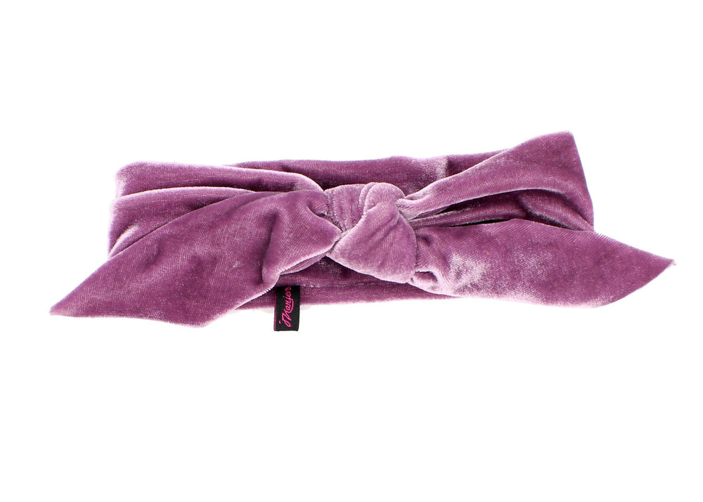 Load image into Gallery viewer, Velvet Double Knot Baby Headwrap Headwrap Manière Lavender