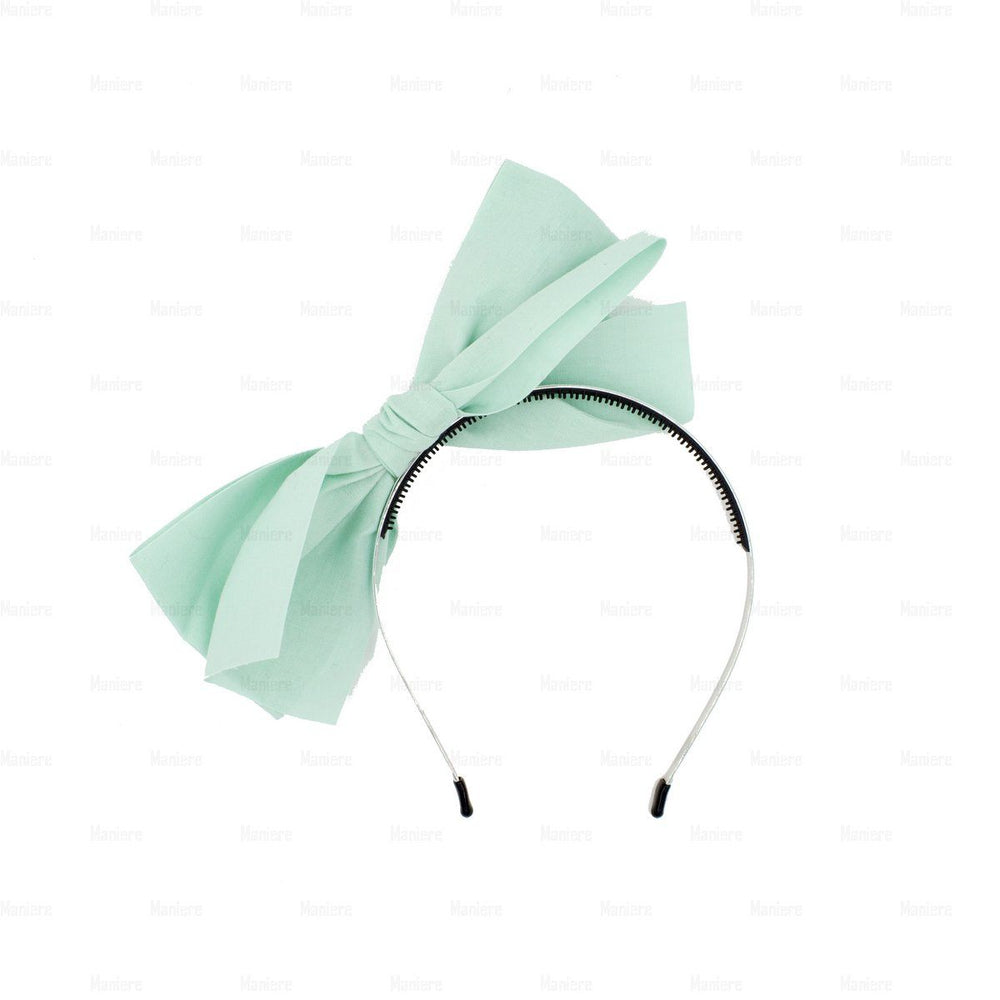Monster-Bow-Band Headband Manière Sky Blue