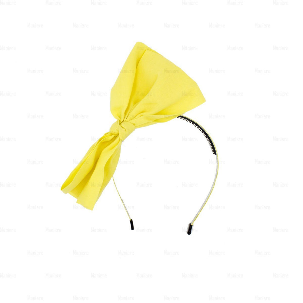 Monster-Bow-Band Headband Manière Yellow