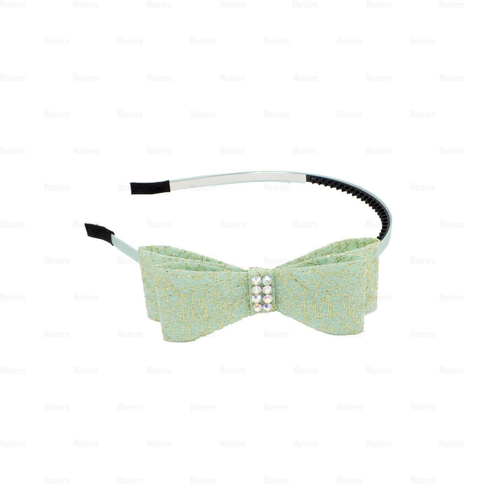 Midnight-Sparkle-Band Headband Manière Mint Green