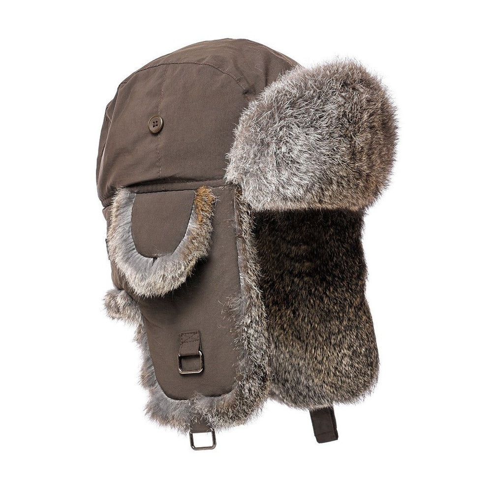 Boys Aviator Style Hat with Rabbit Fur Premium Fur Manière Brown Hat Natural Fur