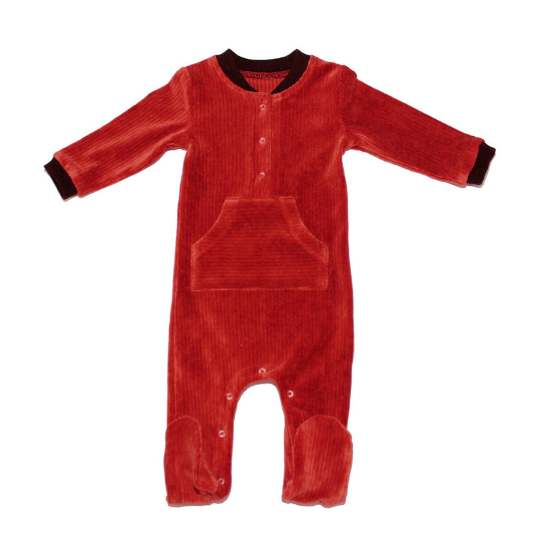 Corduroy Pocket Footie
