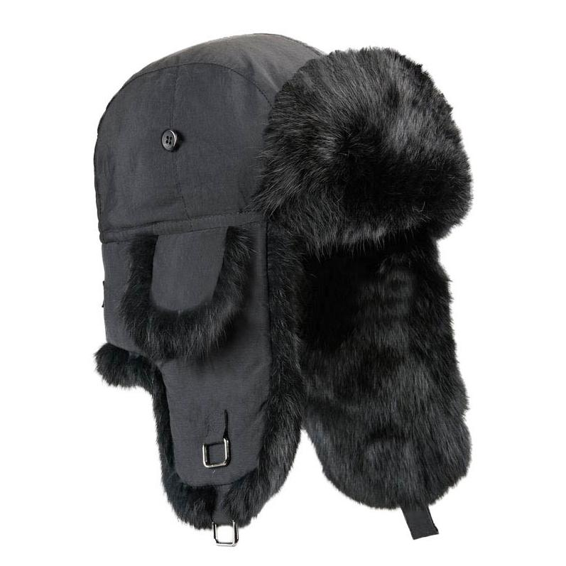Boys Aviator Style Hat with Rabbit Fur