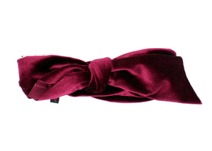 Load image into Gallery viewer, Velvet Double Knot Baby Headwrap Headwrap Manière Maroon