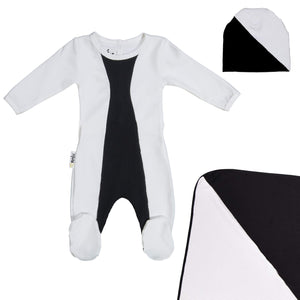 Media Mix Footie Set Maniere Accessories Black 3 Month