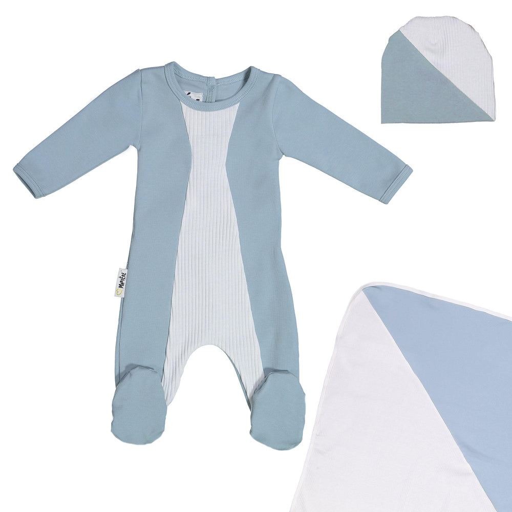 Media Mix Footie Set Maniere Accessories Blue 3 Month