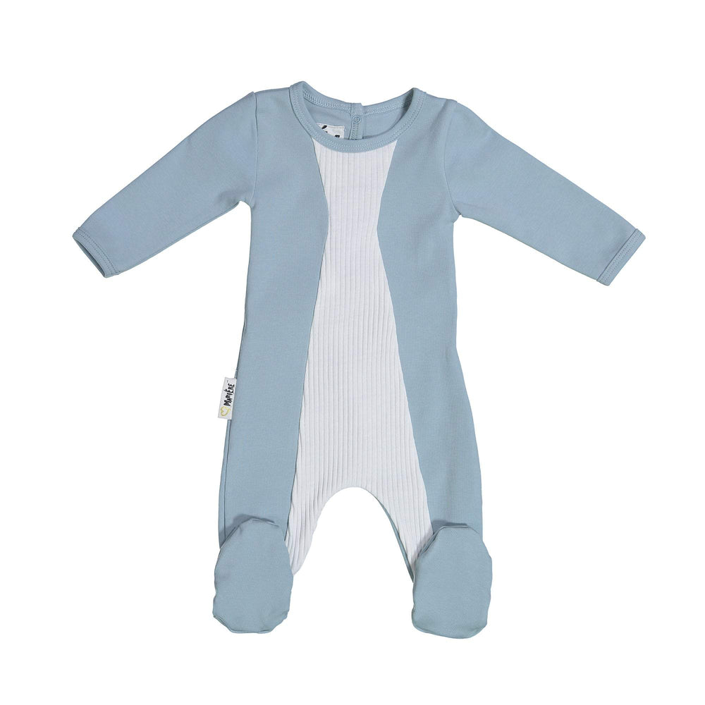 Load image into Gallery viewer, Media Mix Footie Maniere Accessories Blue 3 Month