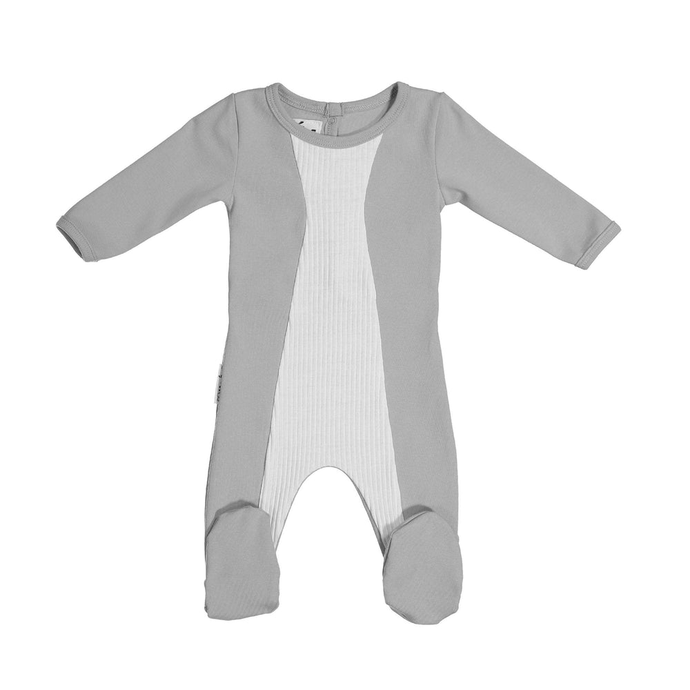 Load image into Gallery viewer, Media Mix Footie Maniere Accessories Grey 3 Month