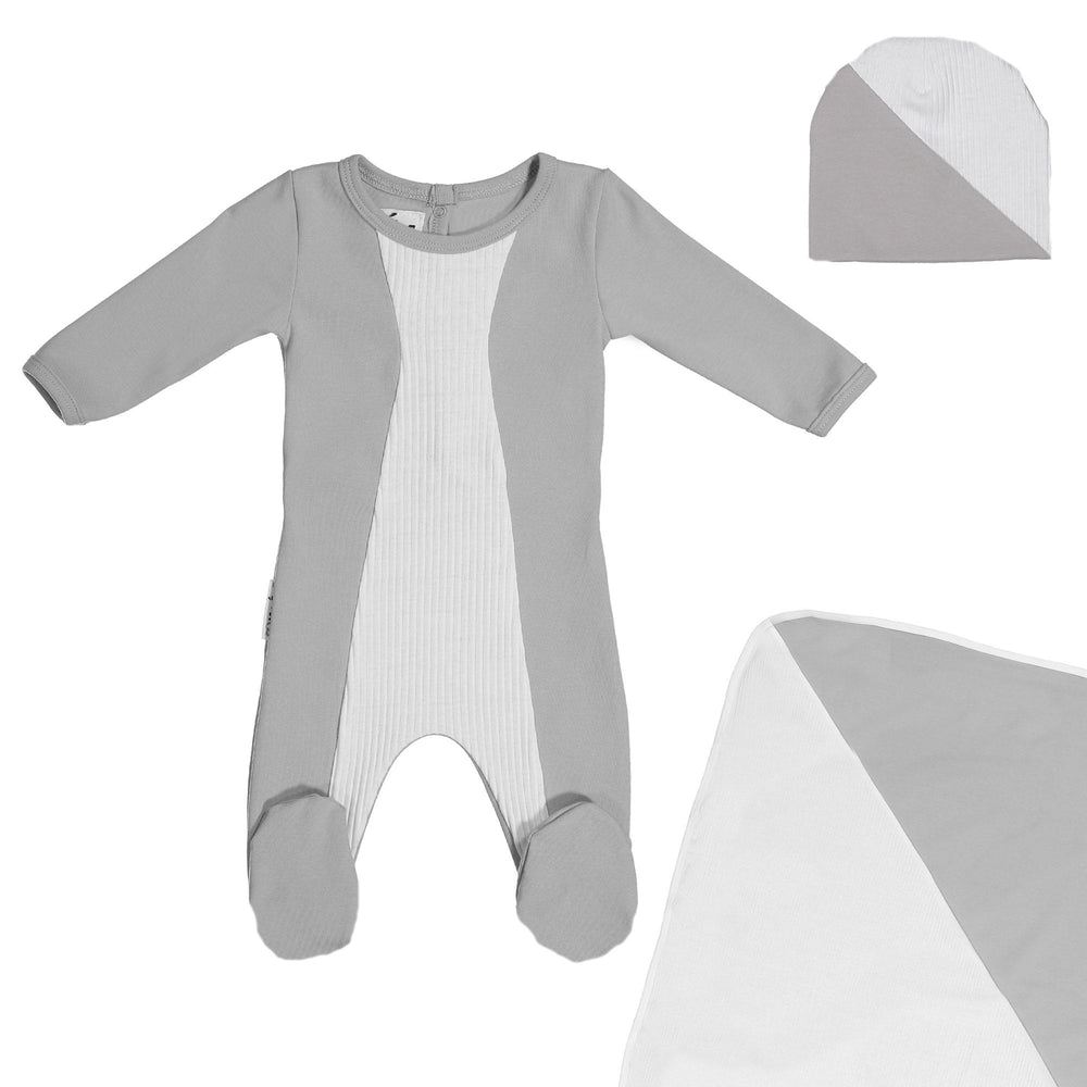 Media Mix Footie Set Maniere Accessories Grey 3 Month