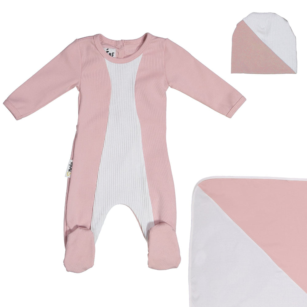 Media Mix Footie Set Maniere Accessories Mauve 3 Month
