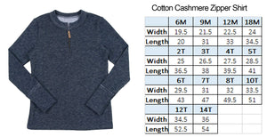 Cotton Cashmere Zipper Shirt Unisex