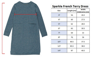 Sparkle French Terry Dress