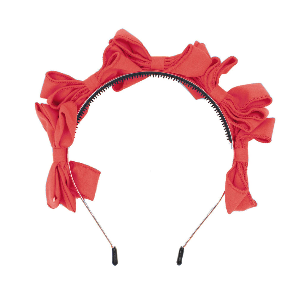 Multi BowTie Band Headband Maniere Accessories Coral